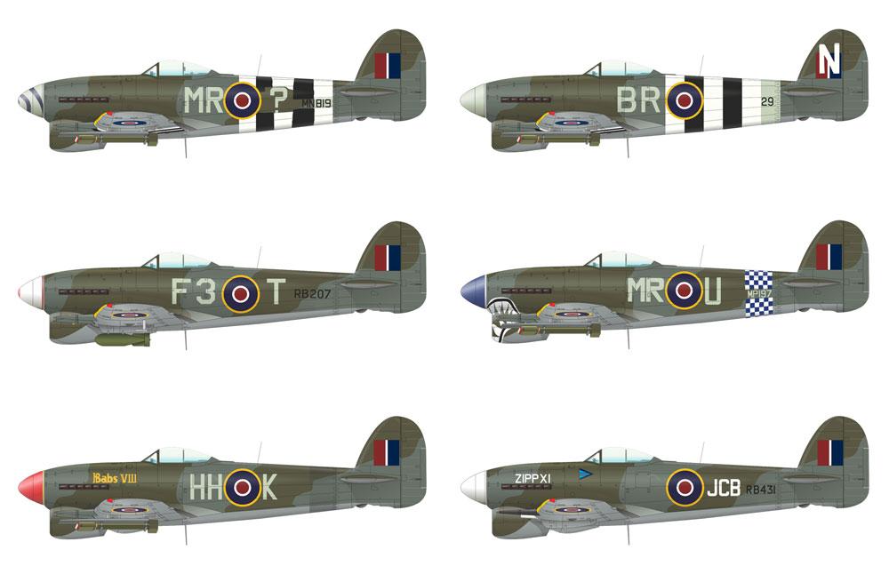 ホーカー タイフーン Mk.1bプラモデル(エデュアルド1/48 リミテッドエディションNo.11117)商品画像_2
