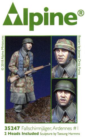 WW2 ドイツ 降下猟兵 アルデンヌ戦 #1レジン(アルパイン1/35 フィギュアNo.35247)商品画像