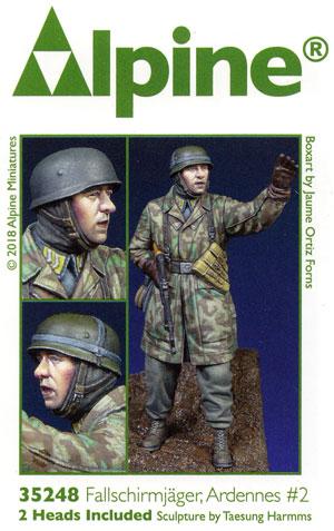 WW2 ドイツ 降下猟兵 アルデンヌ戦 #2レジン(アルパイン1/35 フィギュアNo.35248)商品画像