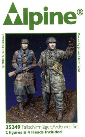 WW2 ドイツ 降下猟兵 アルデンヌ戦 (2体セット)レジン(アルパイン1/35 フィギュアNo.35249)商品画像