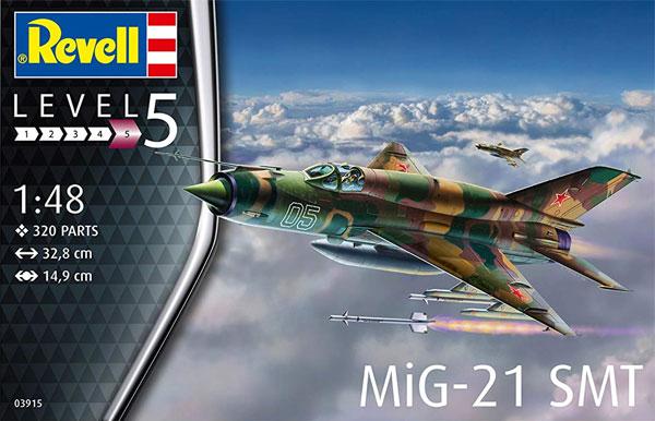 MiG-21SMTプラモデル(レベル1/48 飛行機モデルNo.03915)商品画像
