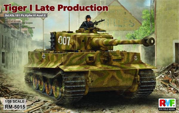 ドイツ 重戦車 Sd.Kfz.181 タイガー 1 後期型プラモデル(ライ フィールド モデル1/35 Military Miniature SeriesNo.RM-5015)商品画像