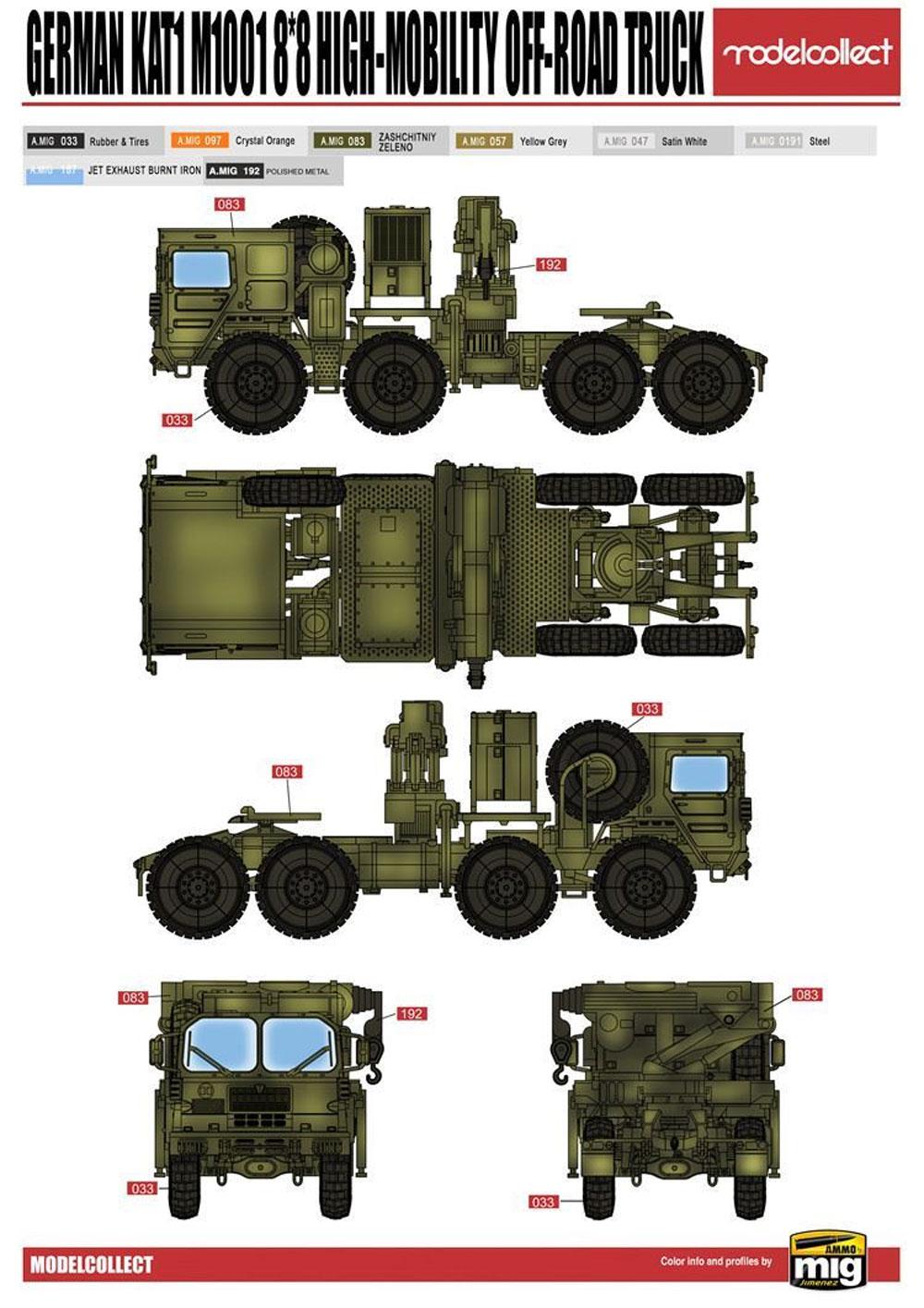 ドイツ KAT1 M1001 8x8 高機動オフロードトラックプラモデル(モデルコレクト1/72 AFV キットNo.UA72119)商品画像_1