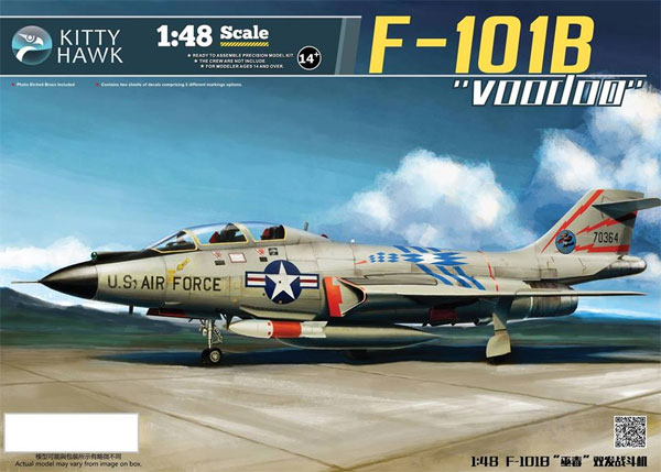 F-101B ヴードゥープラモデル(キティホーク1/48 ミリタリーエアクラフト プラモデルNo.KH80114)商品画像