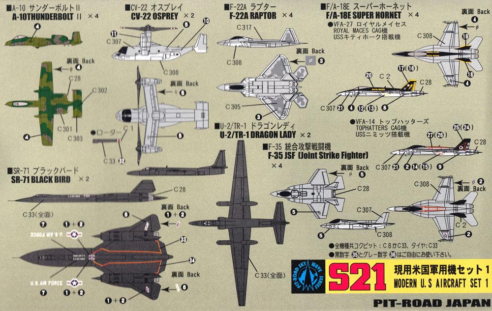 現用米国軍用機セット 1 メタル製 RC-135U 1機付きプラモデル(ピットロードスカイウェーブ S シリーズ (定番外)No.S021SP)商品画像_2
