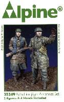 アルパイン1/35 フィギュアWW2 ドイツ 降下猟兵 アルデンヌ戦 (2体セット)