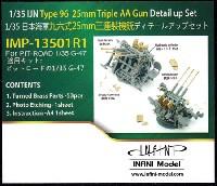 インフィニモデルIMPシリーズ (艦船用アクセサリーパーツ)日本海軍 96式 25mm 3連装機銃 ディテールアップセット