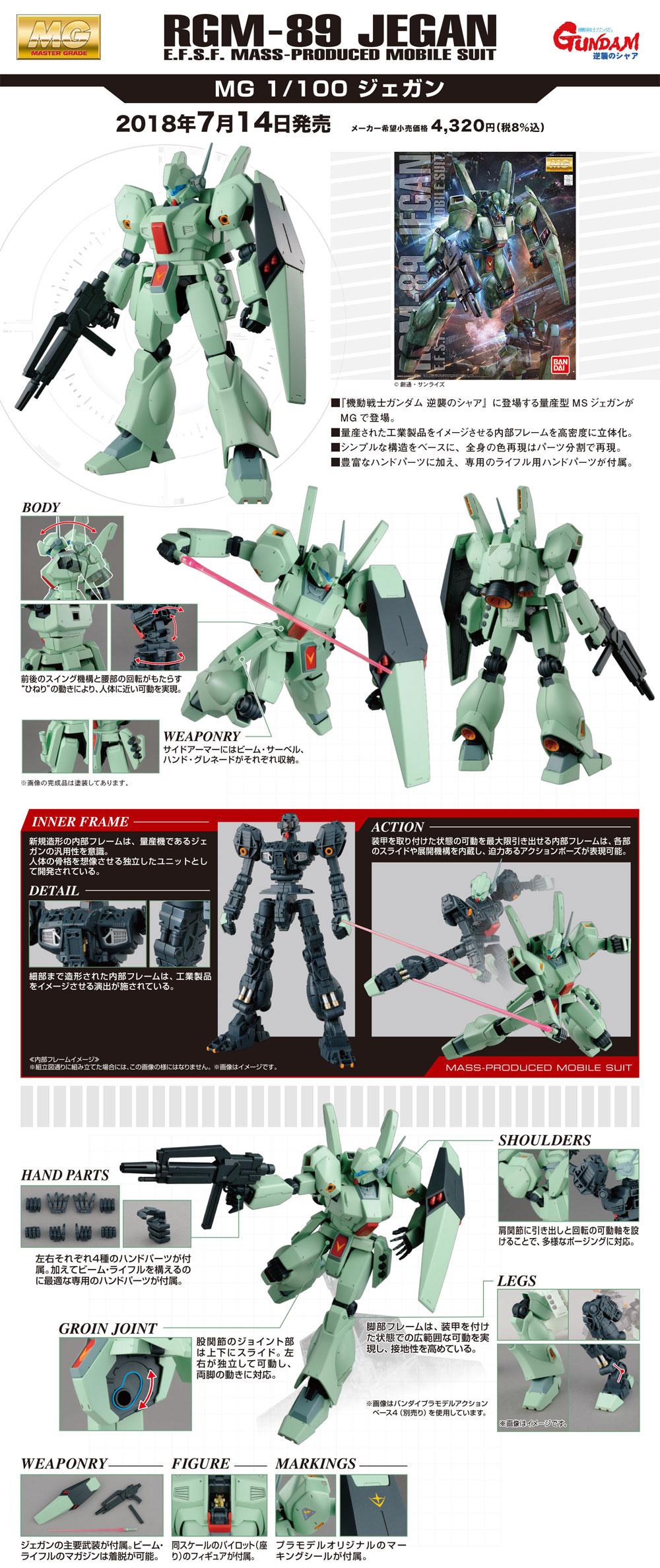 RGM-89 ジェガンプラモデル(バンダイMASTER GRADE (マスターグレード)No.0230348)商品画像_4