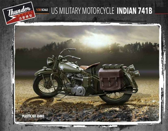 アメリカ 軍用バイク インディアン 741Bプラモデル(サンダーモデルプラスチックモデルキットNo.35003)商品画像