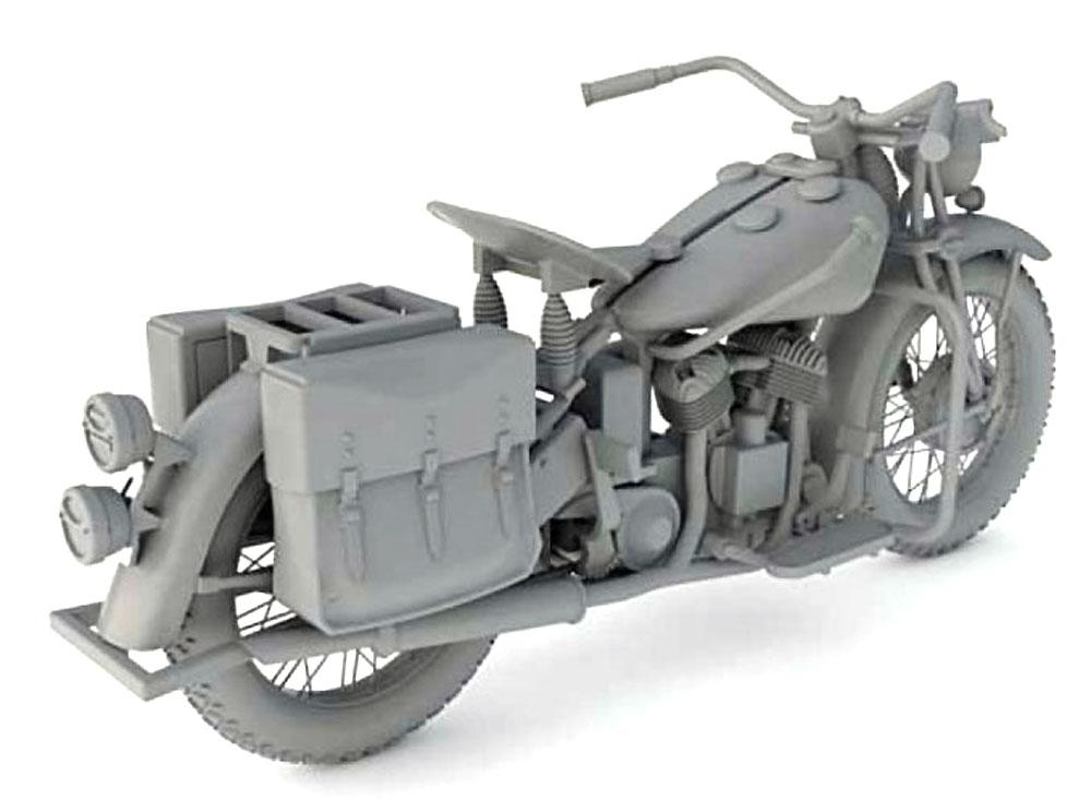 アメリカ 軍用バイク インディアン 741Bプラモデル(サンダーモデルプラスチックモデルキットNo.35003)商品画像_3