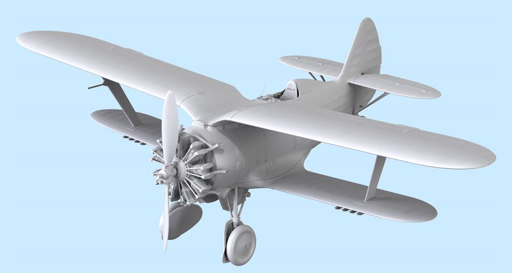 ポリカルポフ I-153 チャイカプラモデル(ICM1/32 エアクラフトNo.32010)商品画像_2