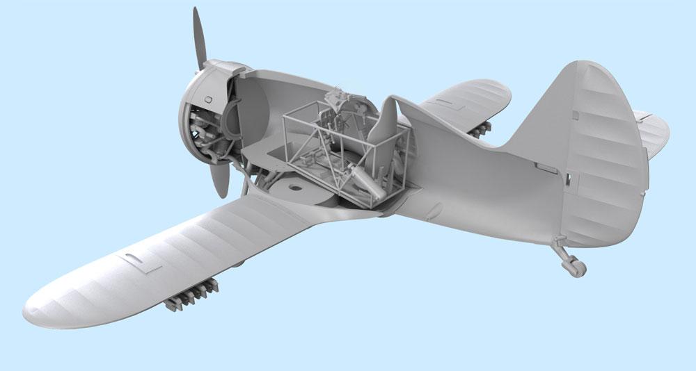ポリカルポフ I-153 チャイカプラモデル(ICM1/32 エアクラフトNo.32010)商品画像_3
