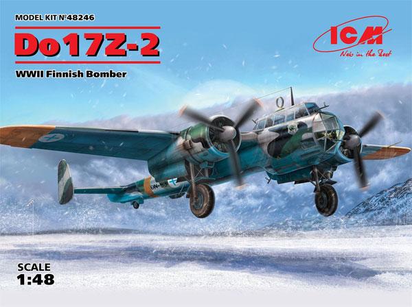 ドルニエ Do17Z-2 爆撃機 フィンランド空軍プラモデル(ICM1/48 エアクラフト プラモデルNo.48246)商品画像