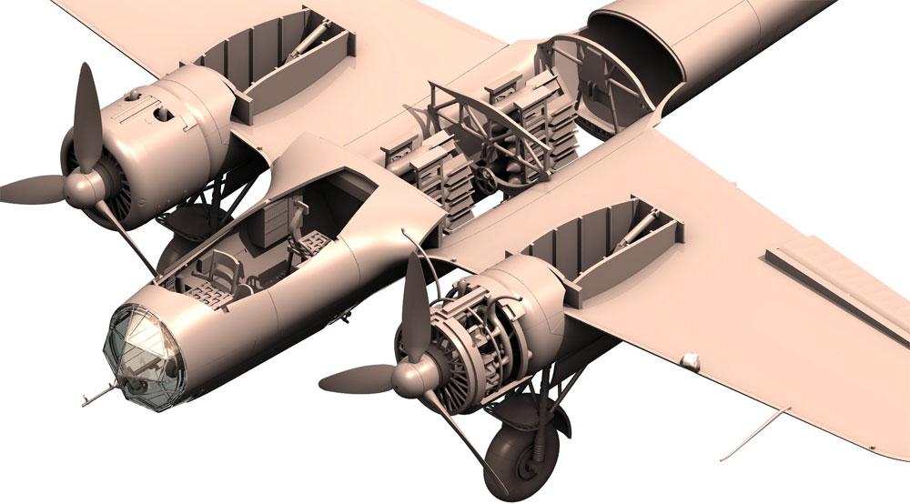 ドルニエ Do17Z-2 爆撃機 フィンランド空軍プラモデル(ICM1/48 エアクラフト プラモデルNo.48246)商品画像_3