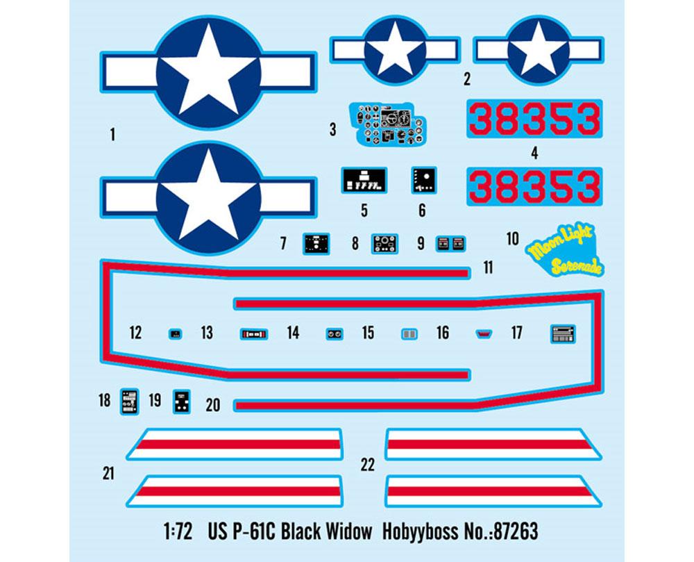 P-61C ブラックウィドウプラモデル(ホビーボス1/72 エアクラフト プラモデルNo.87263)商品画像_2