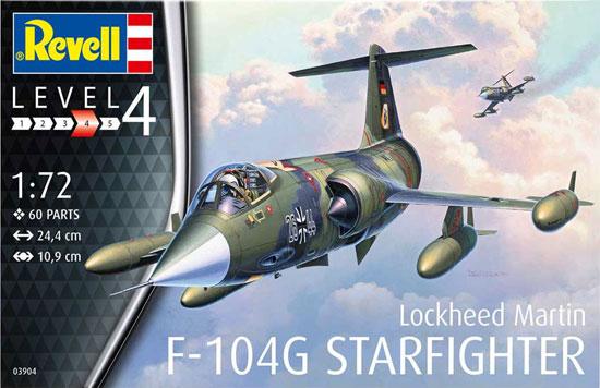F-104G スターファイタープラモデル(レベル1/72 飛行機No.03904)商品画像