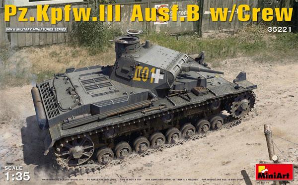 3号戦車 B型 w/クループラモデル(ミニアート1/35 WW2 ミリタリーミニチュアNo.35221)商品画像