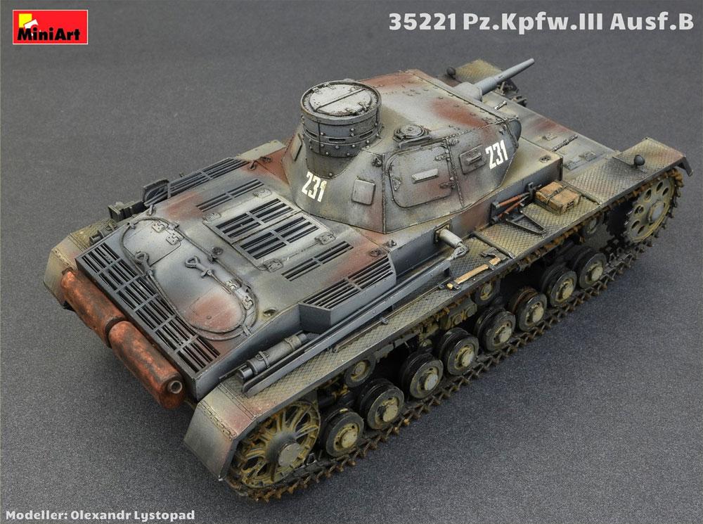 3号戦車 B型 w/クループラモデル(ミニアート1/35 WW2 ミリタリーミニチュアNo.35221)商品画像_4
