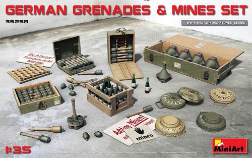 ドイツ 手榴弾と地雷セットプラモデル(ミニアート1/35 WW2 ミリタリーミニチュアNo.35258)商品画像