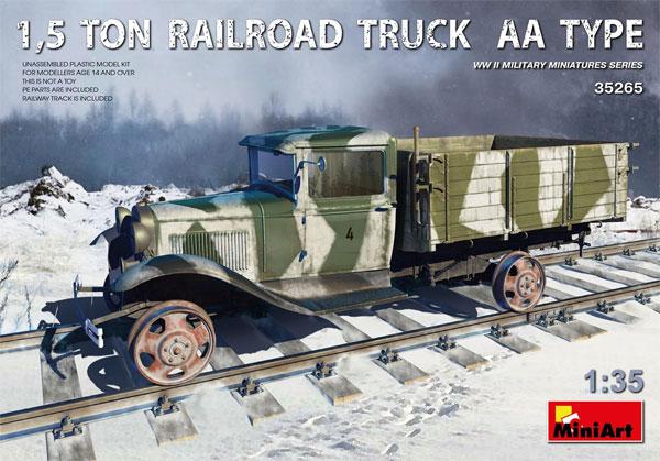 1.5トン レールロード トラック AAタイププラモデル(ミニアート1/35 WW2 ミリタリーミニチュアNo.35265)商品画像
