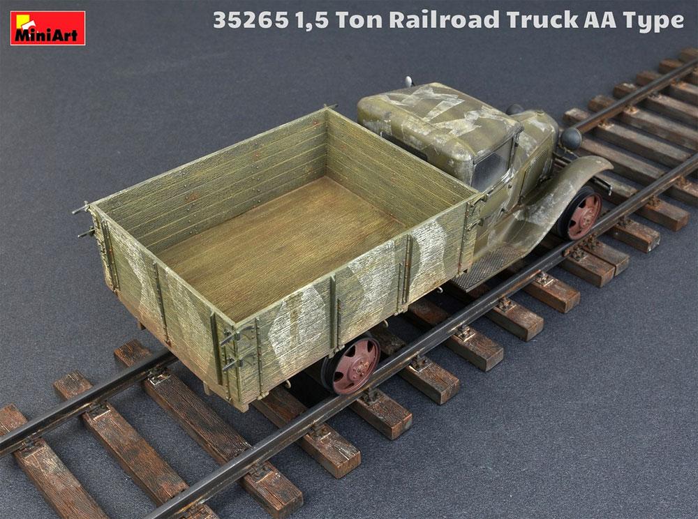 1.5トン レールロード トラック AAタイププラモデル(ミニアート1/35 WW2 ミリタリーミニチュアNo.35265)商品画像_4