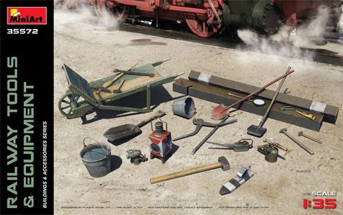 鉄道敷設用工具と装備品プラモデル(ミニアート1/35 ビルディング&アクセサリー シリーズNo.35572)商品画像