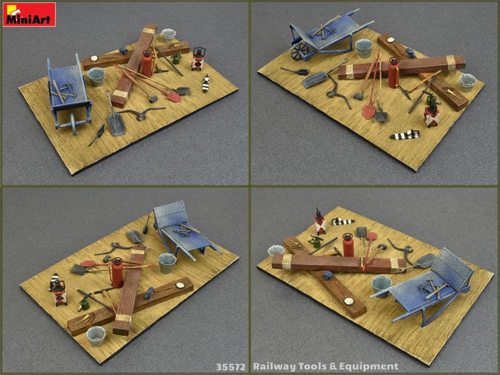 鉄道敷設用工具と装備品プラモデル(ミニアート1/35 ビルディング&アクセサリー シリーズNo.35572)商品画像_3