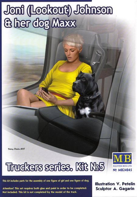 ジョニ ルックアウト ジョンソン & 愛犬 マックス (トラッカーシリーズ)プラモデル(マスターボックスピンナップ (Pin-up)No.MB24045)商品画像