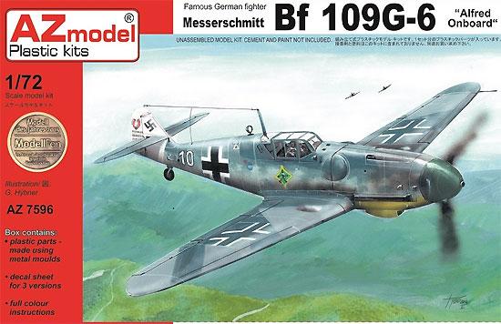 メッサーシュミット Bf109G-6 アルフレート搭乗機プラモデル(AZ model1/72 エアクラフト プラモデルNo.AZ7596)商品画像