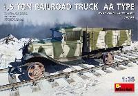 ミニアート1/35 WW2 ミリタリーミニチュア1.5トン レールロード トラック AAタイプ