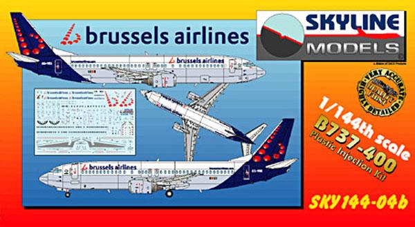 ボーイング B737-400 ブリュッセル航空プラモデル(DACOSKYLINE MODELSNo.SKY144-04b)商品画像