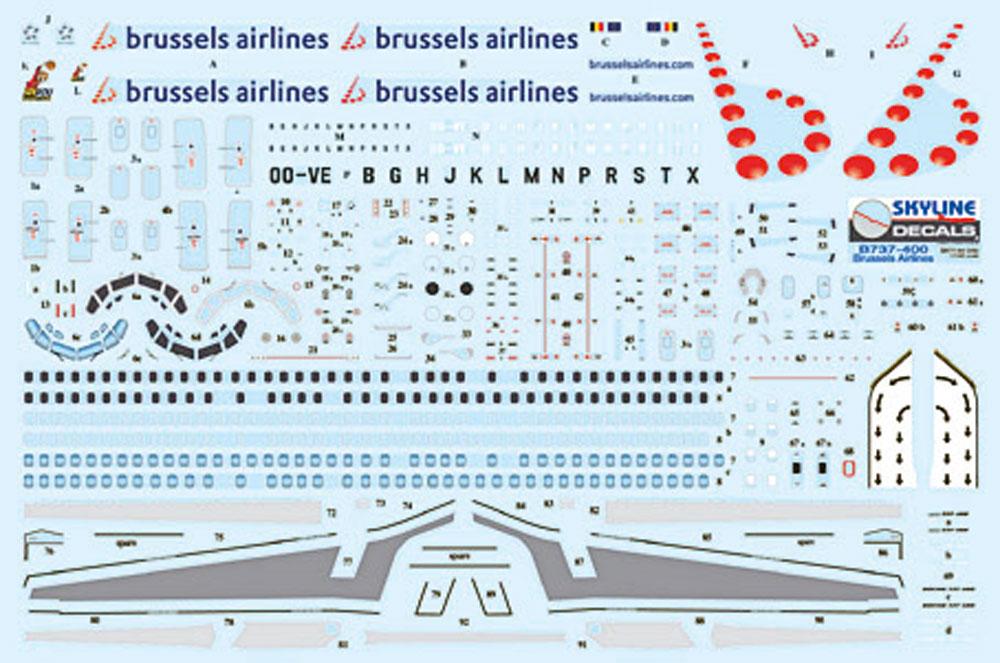 ボーイング B737-400 ブリュッセル航空プラモデル(DACOSKYLINE MODELSNo.SKY144-04b)商品画像_1