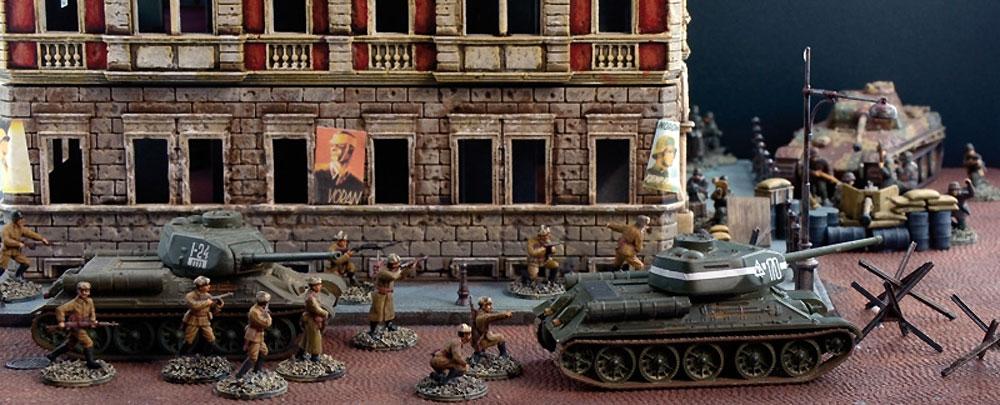 ベルリン市街戦 1945 ジオラマセットプラモデル(イタレリBattle Set (バトルセット)No.6112)商品画像_2