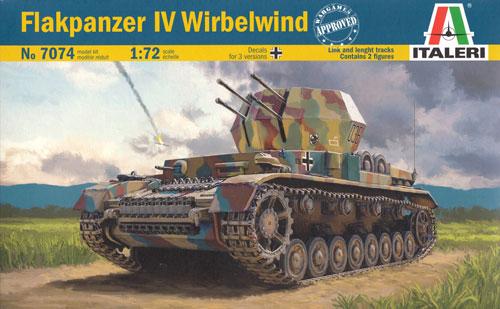 ドイツ 4号対空戦車 ヴィルベルヴィントプラモデル(イタレリ1/72 ミリタリーシリーズNo.7074)商品画像