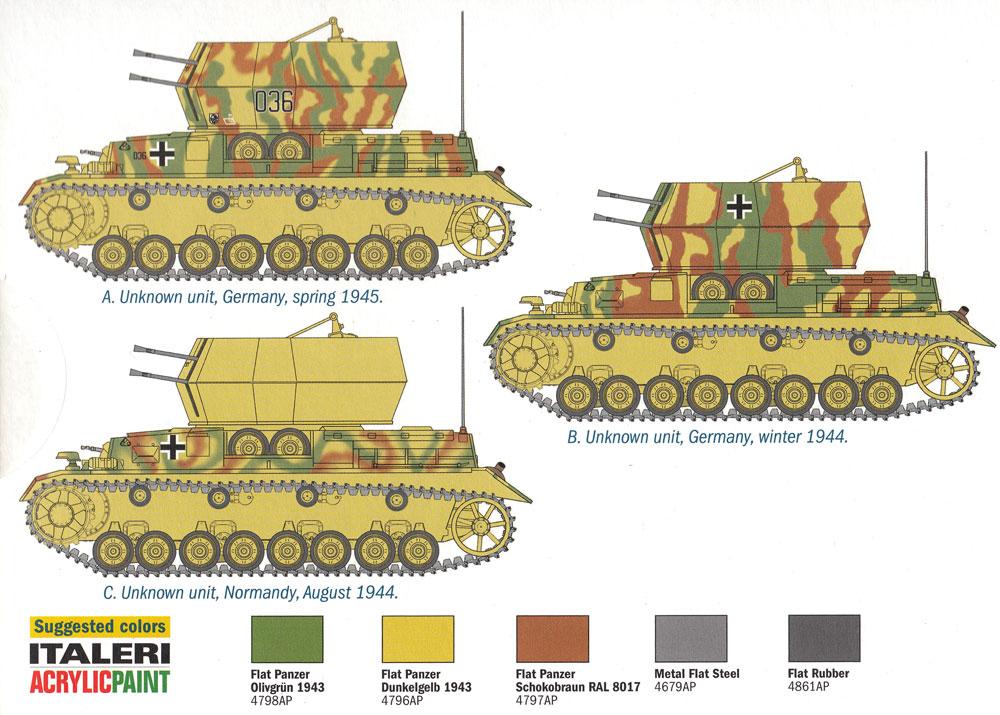 ドイツ 4号対空戦車 ヴィルベルヴィントプラモデル(イタレリ1/72 ミリタリーシリーズNo.7074)商品画像_1