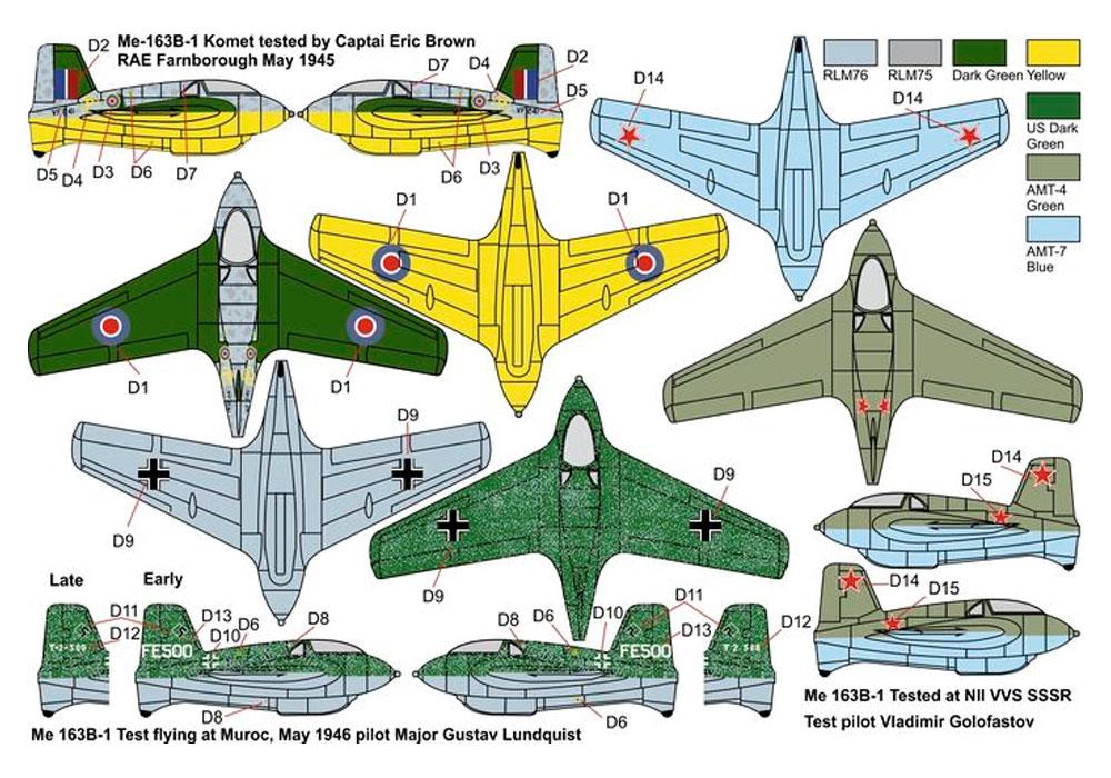 Me163B コメット 鹵獲機プラモデル(ブレンガン1/144 Plastic kits (プラスチックキット)No.BRP144009)商品画像_2