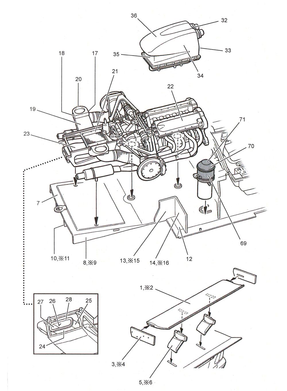 メルセデス CLK-GTR カーボンデカールデカール(スタジオ27ツーリングカー/GTカー カーボンデカールNo.CD24032)商品画像_2