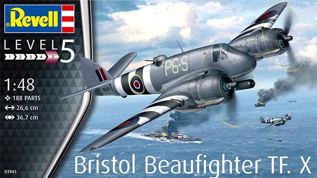 ブリストル ボーファイター TF.10プラモデル(レベル1/48 飛行機モデルNo.03943)商品画像