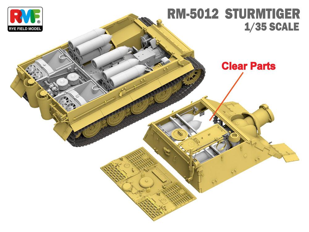 シュトルムティーガー w/フルインテリアプラモデル(ライ フィールド モデル1/35 Military Miniature SeriesNo.RM-5012)商品画像_2