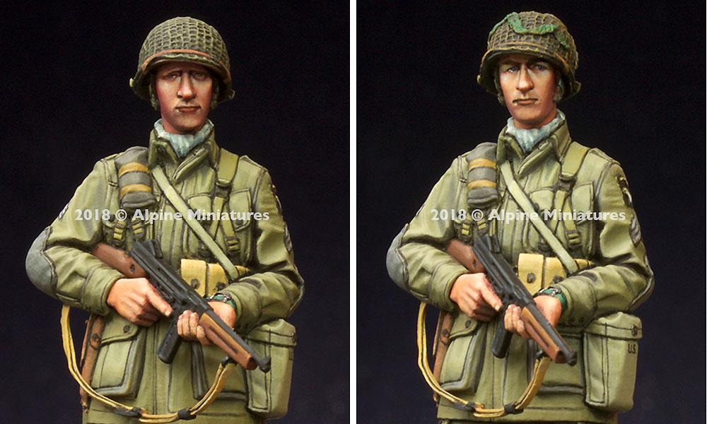 WW2 アメリカ 第101空挺師団 下士官レジン(アルパイン1/35 フィギュアNo.AM35250)商品画像_2