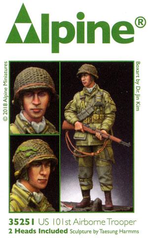 WW2 アメリカ 第101空挺師団 兵士レジン(アルパイン1/35 フィギュアNo.AM35251)商品画像