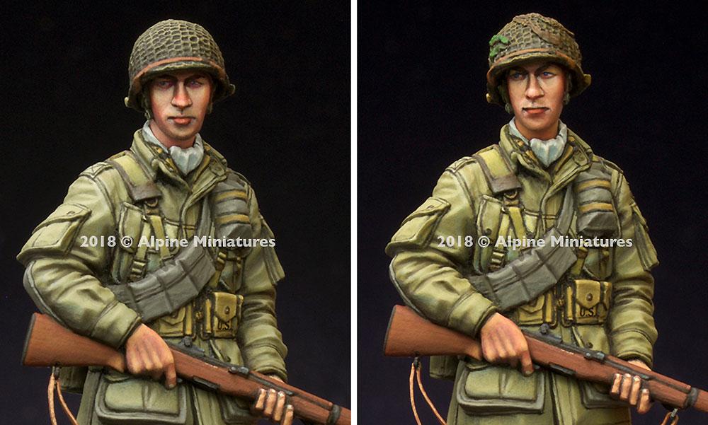 WW2 アメリカ 第101空挺師団 兵士レジン(アルパイン1/35 フィギュアNo.AM35251)商品画像_2