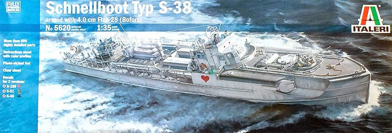 ドイツ海軍 魚雷艇 シュネルボート S-38プラモデル(イタレリ1/35 艦船モデルシリーズNo.5620)商品画像