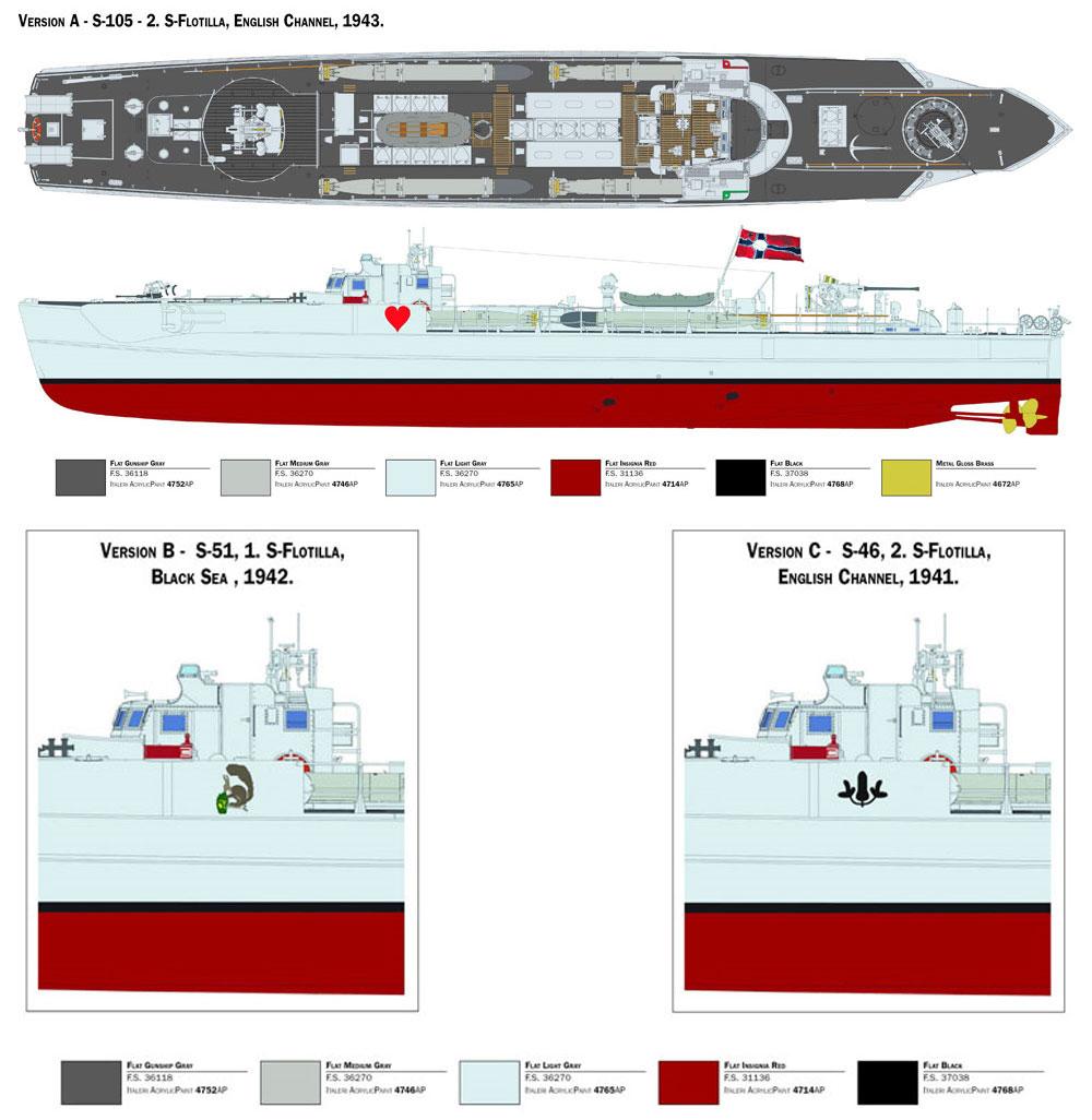 ドイツ海軍 魚雷艇 シュネルボート S-38プラモデル(イタレリ1/35 艦船モデルシリーズNo.5620)商品画像_2