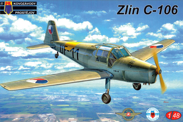 ズリン C-106 チェコ空軍 複座練習機プラモデル(KPモデル1/48 エアクラフト プラモデルNo.KPM4809)商品画像
