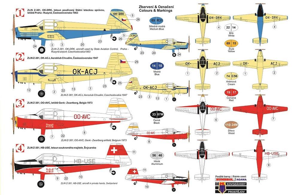 ズリン Z-381 初等複座練習機プラモデル(KPモデル1/48 エアクラフト プラモデルNo.KPM4810)商品画像_1
