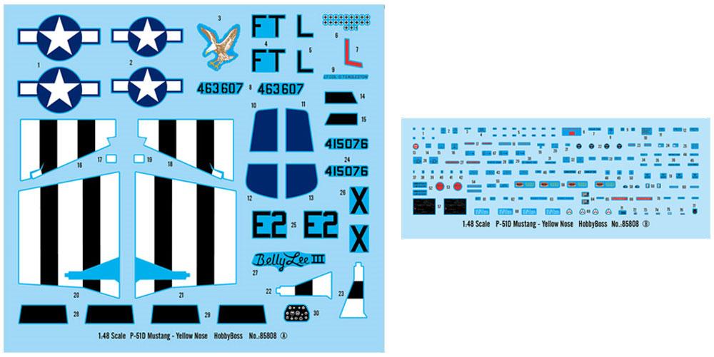 P-51D マスタングプラモデル(ホビーボス1/48 エアクラフト プラモデルNo.85808)商品画像_2