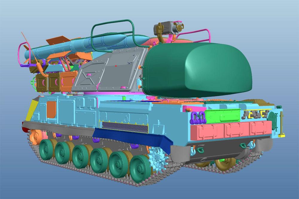 ロシア 9K37M Buk-M1 ブーク防空ミサイルシステムプラモデル(パンダホビー1/35 CLASSICAL SCALE SERIESNo.PH35033)商品画像_2