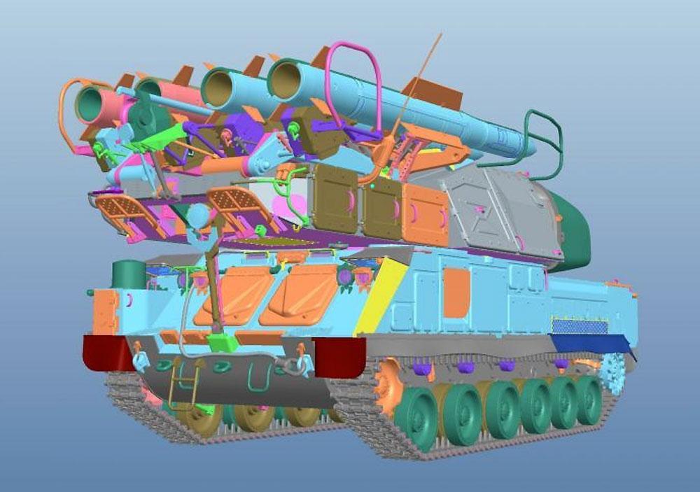 ロシア 9K37M Buk-M1 ブーク防空ミサイルシステムプラモデル(パンダホビー1/35 CLASSICAL SCALE SERIESNo.PH35033)商品画像_4