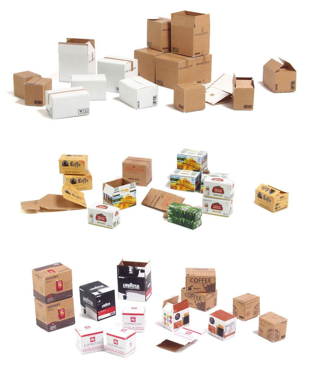 段ボール箱セット ボーナスパックペーパークラフト(マソモデルズペーパーアクセサリーNo.35075)商品画像_3